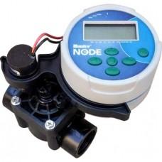 """Програматор Hunter Node 1 станция/клапан 9V + Клапан електромагнитен PGV-101‐ 1""""Ж/ с рег.на дебита"""