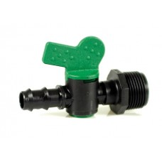Кран ф16 20 за капково напояване с външна резба